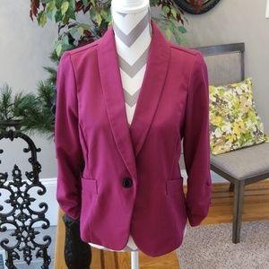 Plum colored suit jacket